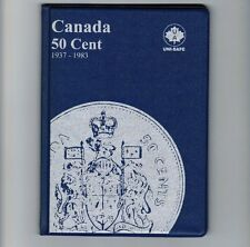Uni-Safe Canadian Canada 50 Cents Coin Collection Album Folder 1937-1983