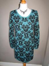 Acrylic Blend Round Neck Jumper Dresses for Women