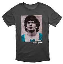 Diego Maradona 'The Greatest' Iconic T Shirt Black