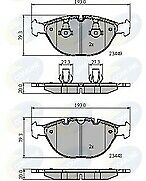 Comline CBP01609 Brake Pad Set Front 34112180420 34116756350 34116761282
