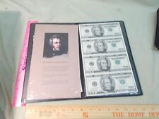 Uncut Currency sheet of four 1996 $20.00 bills, Star Notes  Replacement Notes