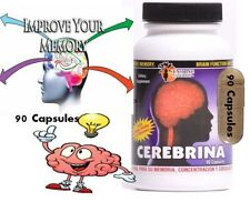 #1 BRAIN BOOSTER Increase Focus, Memory & Clarity with Nootropic Supplement 90c