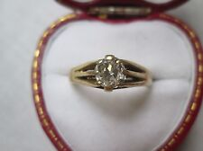 Antique Gents 18ct Gold 0.90ct Diamond Signet Ring. SI1 Clarity.