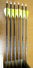 "Carbon Express Predator II 6075 Arrows - 2"" Vanes- 6 arrows- Cut to length FREE!"
