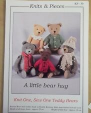 KNIT ONE SEW ONE TEDDY BEARS TOY KNITTING PATTERN KNITS & PIECES 30