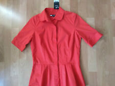 NWT Next Red Peplum Peter Pan Collar Retro Blouse  Sz 10