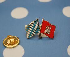 Freundschaftspin Bayern Hamburg Pin Badge Button Anstecker Flaggenpin Sticker