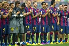 FC BARCELONA FOOTBALL TEAM PHOTO>2014-15 SEASON