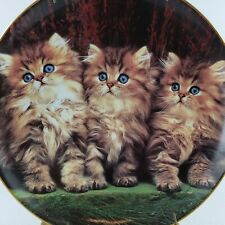 The Danbury Mint Collection Three Little Kittens Cat Plate Collectible 1993