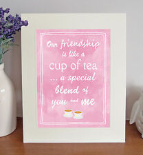 OUR FRIENDSHIP Free Standing 8 x 10 Picture Lovely Sentimental Best Friend Gift