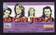 1995 Bon Jovi Van Halen Concert Ticket Stub Sheffield UK These Days Tour Balance