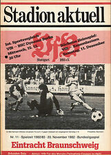 BL 82/83 VfB Stuttgart - Eintracht Braunschweig, 20.11.1982