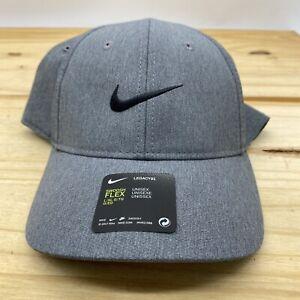 NEW L/XL Nike Golf Legacy91 Swoosh Flex Gray Cap BV6037-050