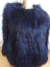Women's Poncho Next Gilet Black Shug Faux Fur Size 16 Ladies Gilet  D1