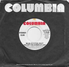 BLUE OYSTER CULT  This Ain't The Summer Of Love  rare promo 45 from 1976