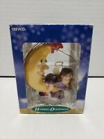 Trevco Holiday Ornament Collection Moon with Angel Girl