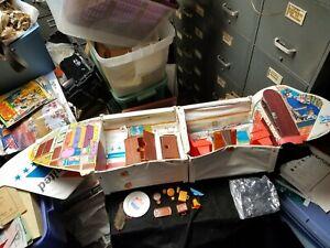 Vintage Mattel Barbie Friend Ship Airplane Play Set w/ Some Accessories