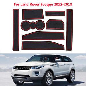 8X Car Red Interior Door Slot Cup Mat Non-slip For Land Rover Evoque 2012-2018