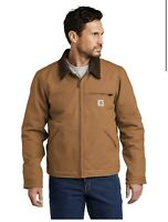 Carhartt Duck Detroit Jacket Brown Size Men's 2XLarge New W tags Free shipping