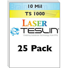 Laser Teslin Synthetic Paper (TS1000) For Making PVC-Like ID Cards - 25 Sheets