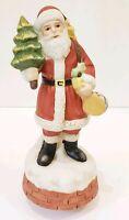 Santa Music Box Plays We Wish You A Merry Christmas Tree Drum Brick Toys Xmas