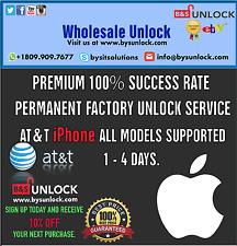 PREMIUM 100% FACTORY UNLOCK SERVICE AT&T IPHONE 7  SE 6S 6 Plus 5 4 ATT Contract