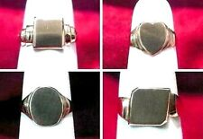 SIGNET RING HANDMADE 10KT SOLID GOLD SQUARE,HEART,OVAL, ANGLE SQUARE BRAND NEW