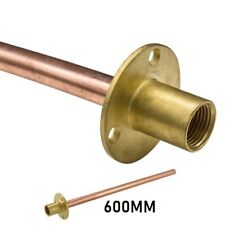 Outside Garden Bib Tap Wall Plate With 600mm Copper Tube For Through Wall