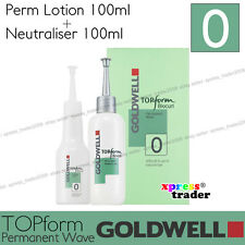 """Goldwell Topform Biocurl Permanent Lotion """"Type 0"""" For difficult to perm natural"""