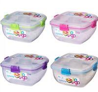 Sistema Klip It Colour Accents Salad to Go 1.1L Container