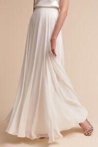 BHLDN Bridal Skirt Gown Winter White Ivory Anthropologie Jenny Yu Size 6