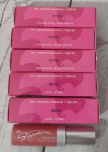 Lot of 5 Mary Kay Signature Lip Polish ~ 2 Cider | 1 Red Ribbon | 2 Tickled Pink
