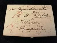 Vorphilatelie Altdeutschland 1823 (?) - Brief Faltbrief  WZ      Nr.16