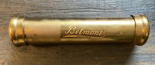 BELMONT RECORD CYLINDER FUNERAL CASKET BURIAL MEMORIAL BRASS TUBE SAFE