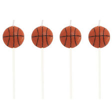 All-Star Basketball Pick Candles 4 Pack Birthday Party Decorations