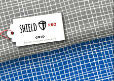 Shield Pro Albstoffe Hamburger Liebe Grid grau antimikrobiell Maskenstoff 25 cm