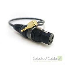 Mini-Klinke gewinkelt 90° auf XLR (w) 30cm Adapter Kabel Mikrofon Blackmagic 6K