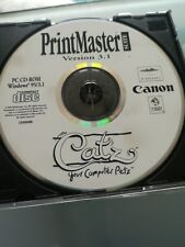 Canon printmaster version 3.1 software PC-CD Rom