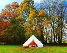 Bell Tent 6M Waterproof Cotton Canvas Stove Jack Yurts Sibly Glamping Camping US