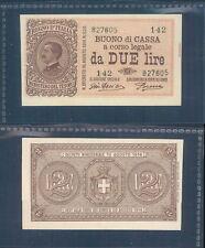 VITTORIO EMANUELE III 2 LIRE  DEC.17/10/1921 F.D.S. R@RO  A.