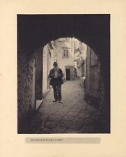 Rue à Capri Italie Grande Photographie Vintage Algentique c1930