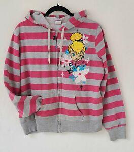 Disney Tinkerbell Full Zip Striped Hoodie Jacket Size Junior XL 15-17