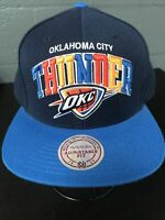 🏀Mitchell&Ness NBA Oklahoma City Thunder Snapback Cap Hat Adjustable🧢Free Ship