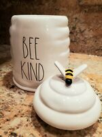 """Rae Dunn """"BEE KIND"""" Large White Ceramic Beehive-Shaped Canister LL, Bee 🐝 Lid"""