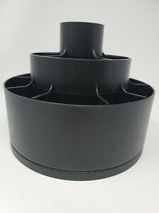 Pampered Chef Turn-About Carousel Utensil Tool Caddy Holder Black Spinner USA