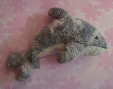 """SeaWorld Gray White Spotted Dolphin Porpoise Plush ~ 9"""" ~ Good Used Condition!"""