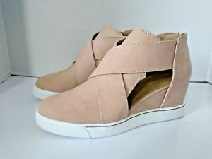 Maurices Gloria Spen Side Sneaker Wedge Taupe Size 10