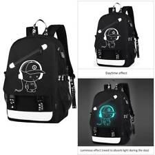 "Glow in Dark 15.6"" Laptop Backpack Waterproof USB Computer Notebook School Bag"