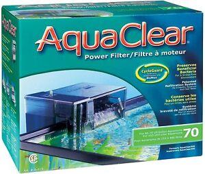 Aquaclear Power Filter 70 1135 L/H 152-265L Fish Tank Aquarium Hagen