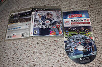 Madden NFL 17 ( Sony PlayStation 3 PS3 2017) Complete Football Game